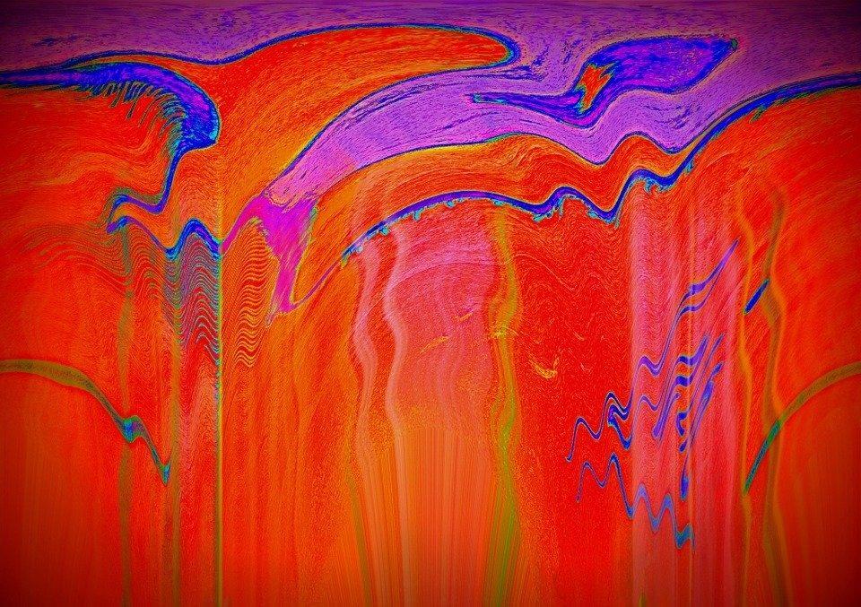 acrylbild rot gemischt