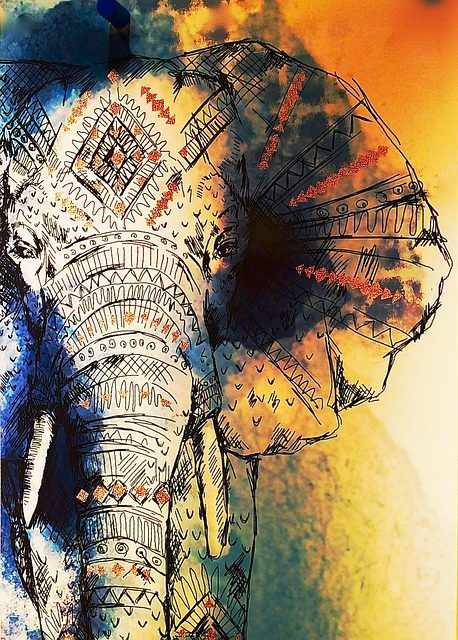 Acrylbild Elefant
